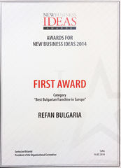 "Refan: ""Best Bulgarian franchise in Europe 2014"""